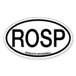ROSP Roseate Spoonbill Alpha Code Oval Sticker