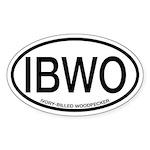 IBWO Ivory-billed Woodpecker Alpha Code Sticker (O