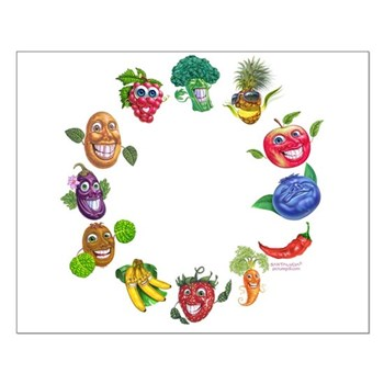 vegetables and fruits Small Poster