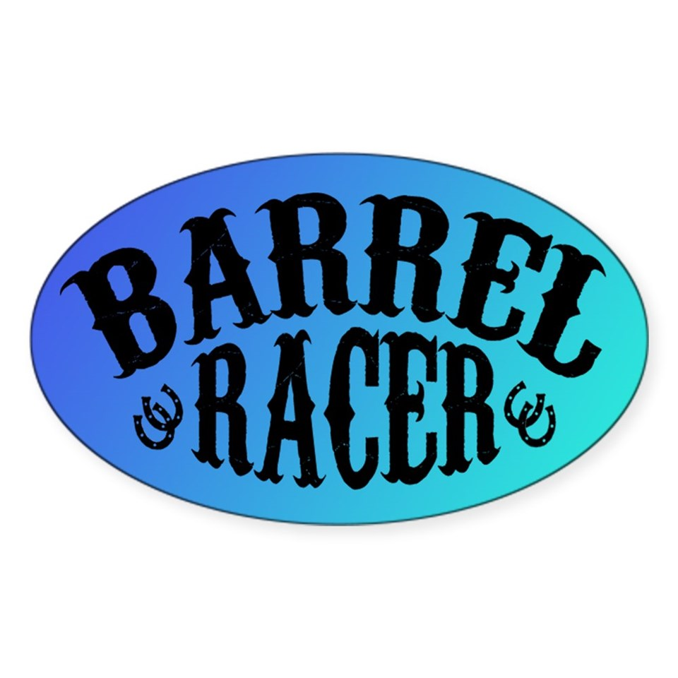 WESTERN HORSE TRAILER & BUMPER STICKERS  Cowgirl A GoGo