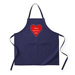 Valentine's Day Heart Apron (dark)