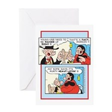 Raised Up Right Greeting Card