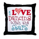 I Love Dancing with the Stars Throw Pillow