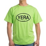 YERA Yellow Rail Alpha Code Green T-Shirt