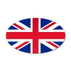 Britain Flag 20x12 Oval Wall Peel