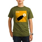 iPish (orange) Organic Men's T-Shirt (dark)