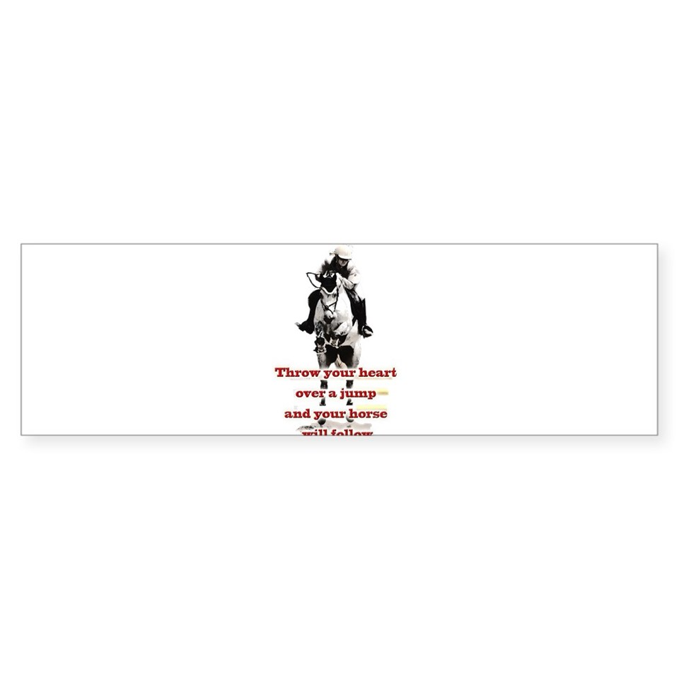 Horse Jumping Stickers  Car Bumper Stickers, Decals