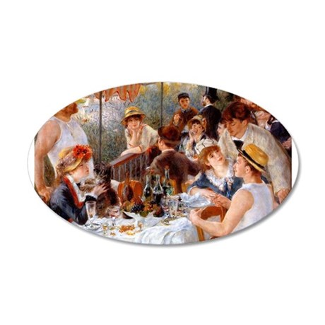 Luncheon of the Boating Party 22x14 Oval Wall Peel