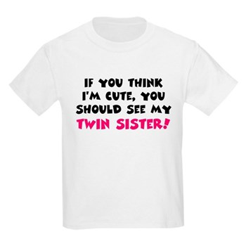 c5581d114 Think I'm cute twin sister T-Shirt > Think I'm cute twin sister > Hot Momma  Maternity T-shirts