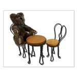 Teddy Bear Bistro Setting Small Poster