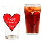 Valentine's Day Heart Drinking Glass