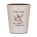 Arrest Cupid Shot Glass