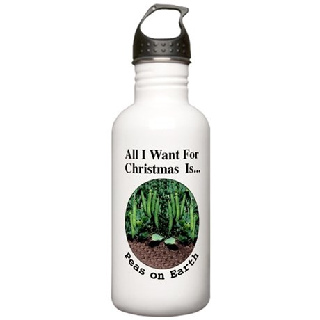 Xmas Peas on Earth Stainless Water Bottle 1.0L