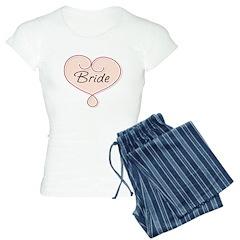 heart bridal pajamas