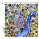 Amethyst Peacock Shower Curtain