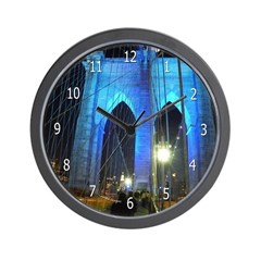 brooklyn bridge night clock