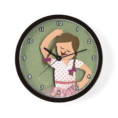 ballet girl clock