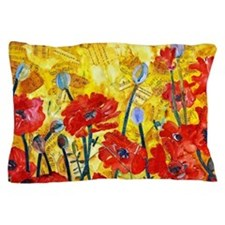 Red Poppy Bed Decorative Sham Pillow Case