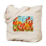 Orange Tulip Kisses, Butterflies and Hope Tote Bag