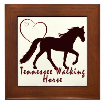 Tennessee Walking Horse Hearts Framed Tile