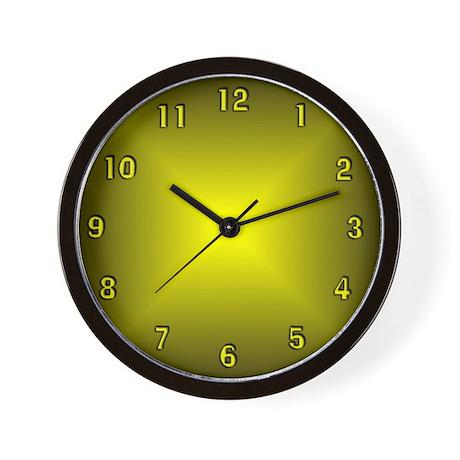 Yellow Glow Wall Clock