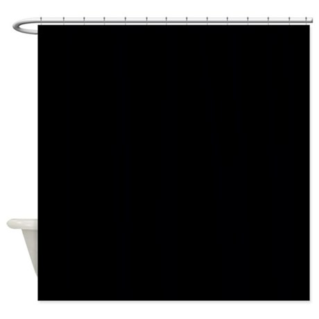 Solid black shower curtain