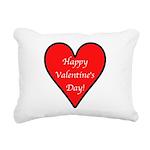 HappyVdayD.png Rectangular Canvas Pillow