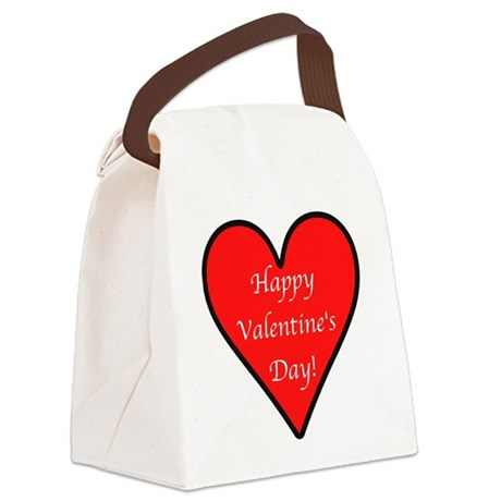 HappyVdayD.png Canvas Lunch Bag
