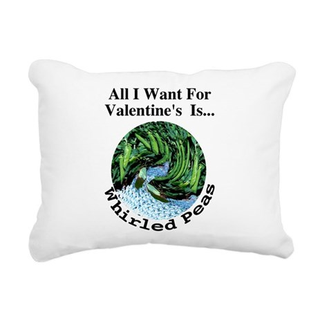 ValentinesPeas.png Rectangular Canvas Pillow