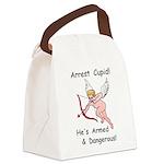 ArrestCupid.png Canvas Lunch Bag