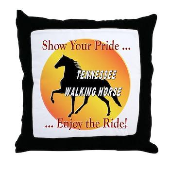 Tennessee Walking Horse Throw Pillows