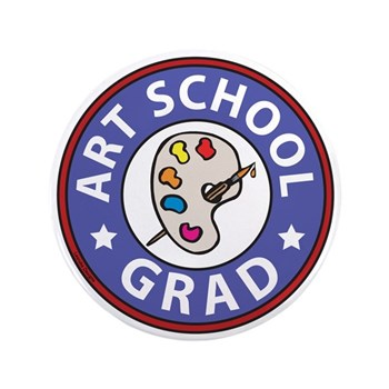 art school graduation button