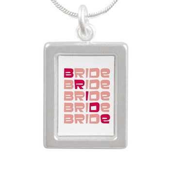 pink bridal necklace