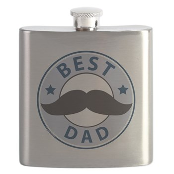 mustache best dad flask