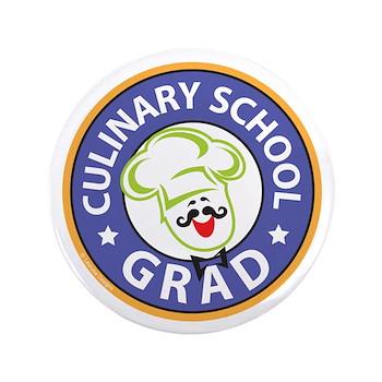 culinary school grad button