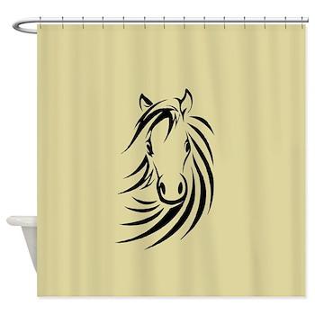Horse Head Shower Curtain