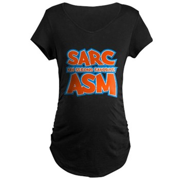 Sarc, My Second Favorite Asm Dark Maternity T-Shirt