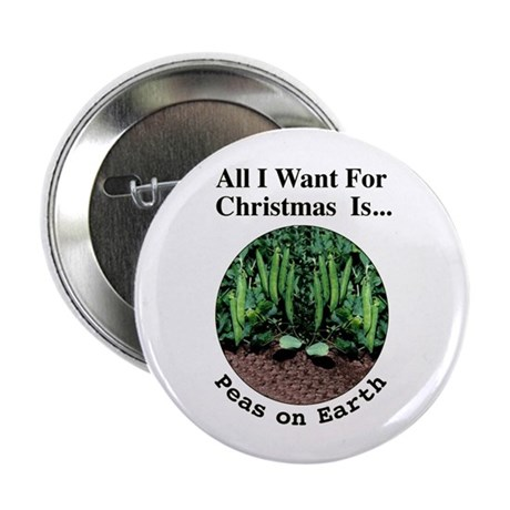 "Xmas Peas on Earth 2.25"" Button (10 pack)"