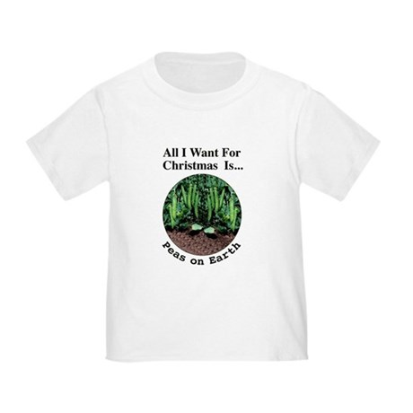 Xmas Peas on Earth Toddler T-Shirt