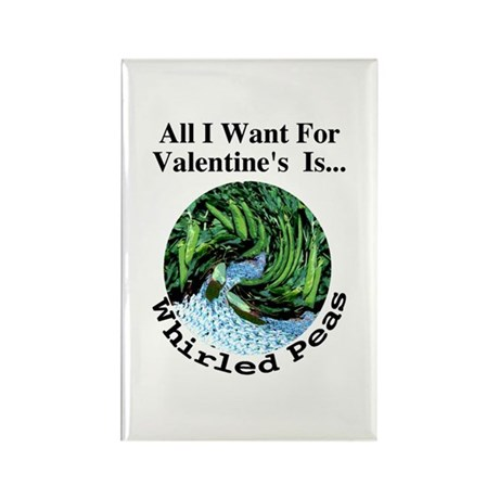 Valentine's Whirled Peas Rectangle Magnet (10 pack