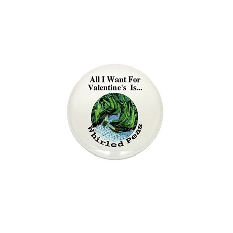 Valentine's Whirled Peas Mini Button (100 pack)