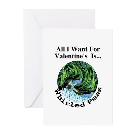 Valentine's Whirled Peas Greeting Cards (Package o