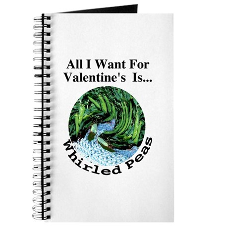 Valentine's Whirled Peas Journal