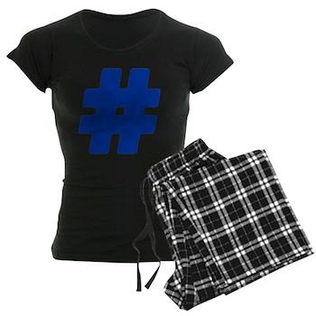 Blue #Hashtag Women's Dark Pajamas