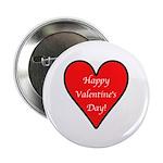 "Valentine's Day Heart 2.25"" Button (100 pack)"