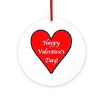 Valentine's Day Heart Ornament (Round)