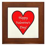 Valentine's Day Heart Framed Tile