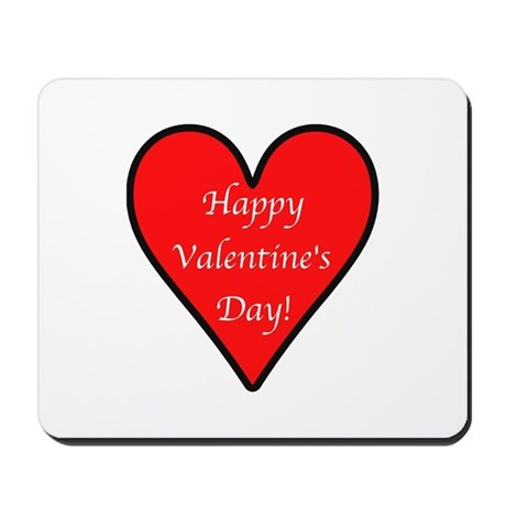 Valentine's Day Heart Mousepad