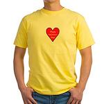 Valentine's Day Heart Yellow T-Shirt