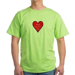 Valentine's Day Heart Green T-Shirt